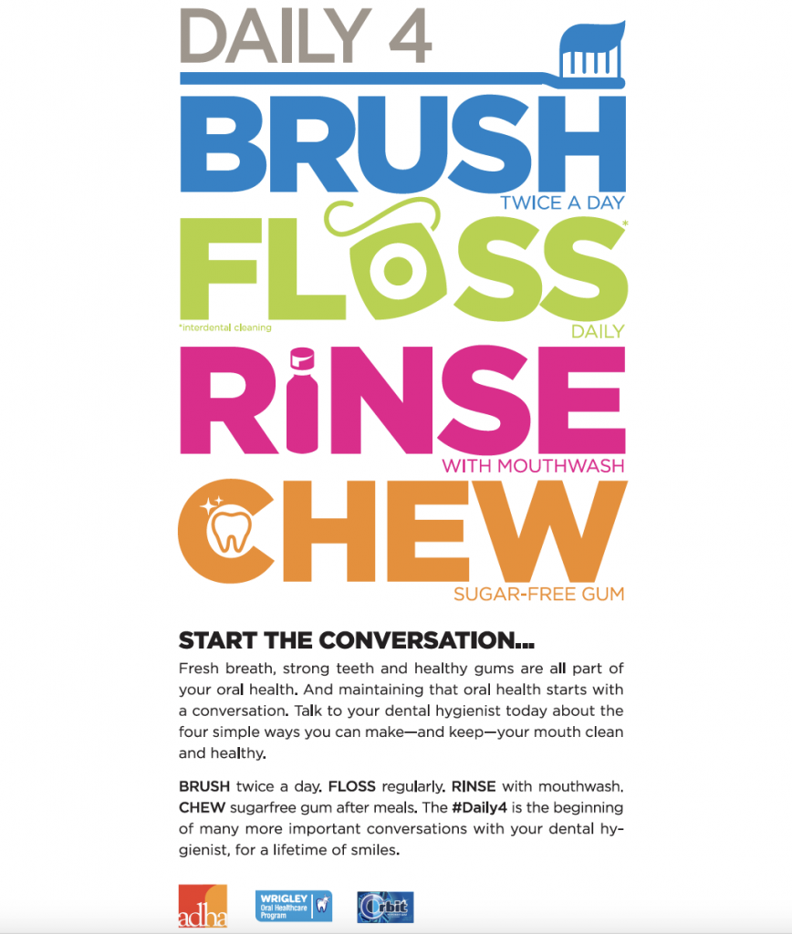dental hygiene month daily4 poster